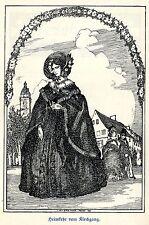 H. Steiner Prag Heimkehr vom Kirchgang Kunstdruck von 1909