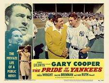 BABE RUTH with GARY COOPER as LOU GEHRIG * PRIDE OF THE YANKEES 11x14 LC print