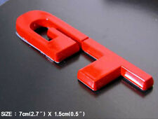 Universal Vehicles GT Logo Red Tuning Lettering Emblem - S