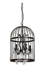 Deckenlampe Pillenore Vogelkäfig Rost Braun 5 flammig Lampe Käfig Kronleuchter