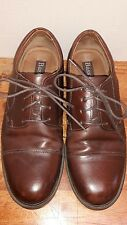 BASS PICKETT 0705 Mens Brown Leather Cap Toe Flex Comfort Oxfords Shoes Sz