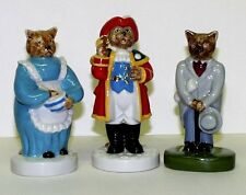 WADE THREE CATKINS FIGURES CITY GENT, TOWN CRIER AND COOK -LIMITED EDITIONS