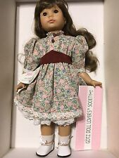 "Gotz  Made in Germany 18"" Brunette Doll  like AG 18"" Doll MIB w/ COA"