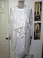 CHURCH COCKTAIL DRESS SUIT  20W WEDDING, CRUISE, MOTHER OF BRIDE WHITE PLUS NWT