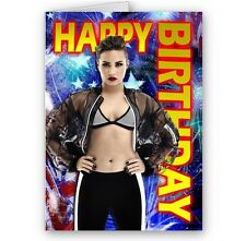 Demi Lovato Happy Birthday, A5 Card with Envelope
