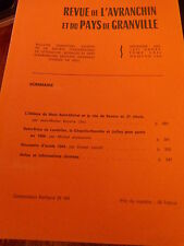 Revue de l'Avranchin et du Pays de Granville N° 324 Mont Saint Michel Bayeux etc