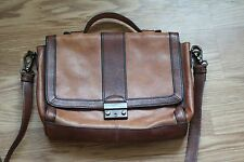 Fossil Vintage Brown Leather Messenger Bag