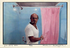 Jim Dine 1977•Pink Shower Curtain•Photo Alex Kayser•Postcard Japan