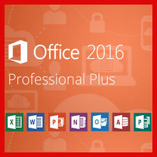 Microsoft Office 2016 Professional Plus 32 / 64bit OEM lizenz KEY 1 PC +Tutorial