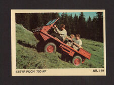 Steyer Puch 700AP Scarce 1970s Car Sticker Card from Italy #149