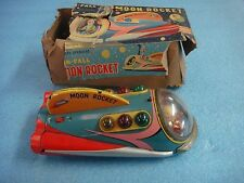 MOON ROCKET NO FALL TIN TOY FROM LATE 1950'S WORKING SHAPE