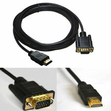 Gold HDMI Male to VGA HD-15 Male Cable 3M 10ft 1080p for PC HDTV DVD