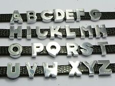 "26 Assorted Alloy Alphabet Letter ""A-Z"" Slide Beads Charm Fit 8mm Wristbands"