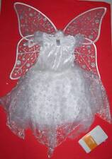 GYMBOREE WINTER FAIRY COSTUME w Wings Tights 3-4 Snow Princess Angel Halloween
