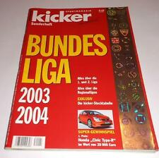 Kicker Sonderheft Bundesliga 2003-2004 Football Season Guide Magazine 226 Pages