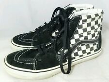 VANS OLD SCHOOL HI TOP SKATEBOARD SHOES CHECKERED BLACK WHITE MEN'S SIZE 6