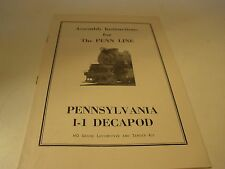 Penn Line HO Scale Railroad  Pennsylvania I-1 Decapod  Assembly Instructions
