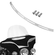 Polish Batwing Fairing Windshield Windscreen Trim For Harley Touring FLHT FLHTC