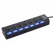 7 Port USB 2.0 Power Hub High Speed Separated ON/OFF Switch Laptop PC X6RG STGG