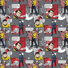 Star Trek Classic Fabric Galaxy Pop Iron Star Trek Quotes Cotton Camelot Fabrics
