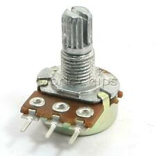 2PCS 50K OHM Linear 3 Terminal Taper Rotary Potentiometer 50KB B50K Pot