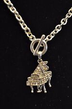 PIANO TOGGLE NECKLACE-CRYSTAL PIANO- MUSIC JEWELRY -MUSICIAN GIFTS