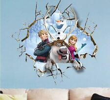 Hot ~ Home Frozen Elsa Decal Mural Rermovable Art Decor Christmas Wall Sticker