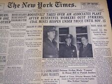 1941 OCTOBER 31 NEW YORK TIMES - LINDBERGH SEES TRICKERY ON WAR - NT 1102