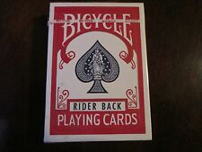 "VINTAGE BICYCLE""RIDER BACK"" PLAYING CARDS, POKER, SEALED"