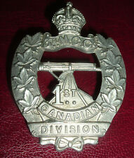 CAP BADGES-WW1 CANADIAN CEF 1st CANADIAN DIVISION 3rd MACHINE GUN COMPANY