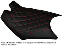 DIAMOND RED STITCH CUSTOM FITS KTM RC8  FRONT RIDER REAL LEATHER SEAT COVER
