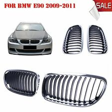 Chrome & Black Front Kindy Grill Grille BMW E90 E91 LCI 325i 328i 335i 4D 09-11