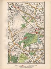 1936 LARGE SCALE MAP -  LONDON NEW SOUTHGATE BOWES PARK WOOD GREEN HORNSEY MUSWE
