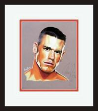JOHN CENA ORIGINAL SIGNED ARTWORK WWE WWF WRESTLING LEGEND ***ONE OF A KIND***