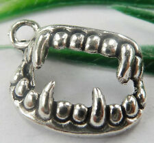 Wholesale free ship 100pcs tibet silver tooth charms 17x12mm