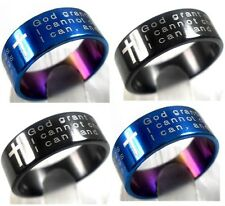 20pcs Serenity Prayer Stainless Steel Rings Wholesale Fashion Jewelry Lots