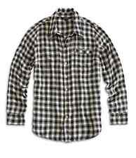Lucky Brand - XXL - NWT $79 - Boyfriend Fit B&W Plaid Rayon Twill Flannel Shirt