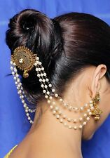 HP-12 Indian Ethnic Pearl Made Hair & Head jewelry Bridal  Hair Accessories
