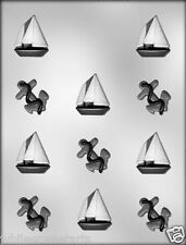 """CHOCOLATE ANCHOR AND SAILBOATS 1-3/8"""" CANDY SOAP FONDANT MOLD 90-15333"""