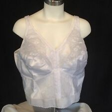 Bra 48DD White Long Line Posture Wire Free Front Close 7565 Exquisite Form