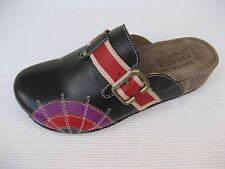 Spring Step L'Artiste Womens Shoes $95 NEW Valeria Black Leather Clog 37 6.5 7
