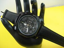 BULOVA MARINE STAR 98B151 CHRONOGRAPH MEN`S WATCH S/S CASE LEATHER BAND
