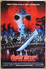 FRIDAY THE 13TH VIII: JASON TAKES MANHATTAN ROLLED ORIG 1SH MOVIE POSTER (1989)