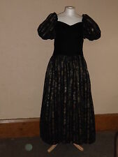 DRESS VINTAGE STEAMPUNK VICTORIANA WEDDING DOWNTON STYLE - IN VGC (FREE UK P&P)