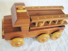 "WOOD CLASSIC FIRE TRUCK C & N WOOD  N ""GIFTS  COLLECTIBLE TOY"