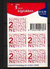 Nederland Nikkels 2034a, 5 x 2 cent  zelfklevend - Lastig vel