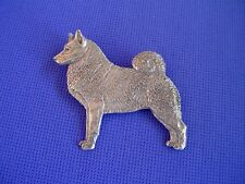 Norwegian Elkhound pin Standing #88A Pewter Dog Jewelry by Cindy A. Conter
