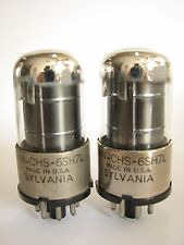 2 matched Sylvania JAN-CHS-6SH7L (=6SH7GT) tubes - TV7B tested @ 78, 78, min:43