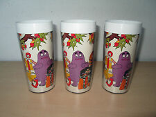 3 VINTAGE 1978 McDONALD'S THERMO-SERV INSULATED GLASSES.