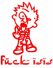 Calvin,Middle Finger to ISIS, ISIS,Cowards, AntiTerrorist,Infidel, Vinyl Decal